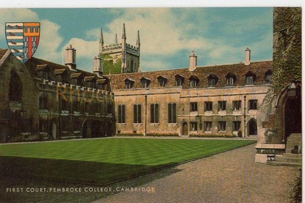 Cambridgeshire: First Court Pembroke College Cambridge. Salmon Postcard