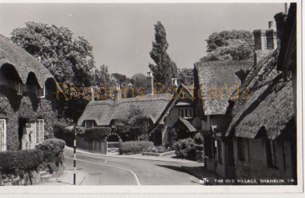 Isle of Wight: The Old Village Shanklin Real Photo Postcard