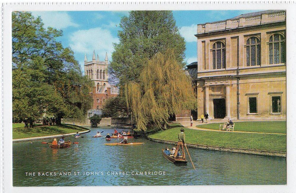 Cambridgeshire:  The Backs And St Johns Chapel, Cambridge Colour Photo Postcard