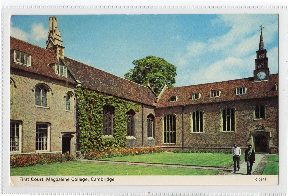 Cambridgeshire: First Court, Magdelene College, Cambridge Postcard (Dennis)