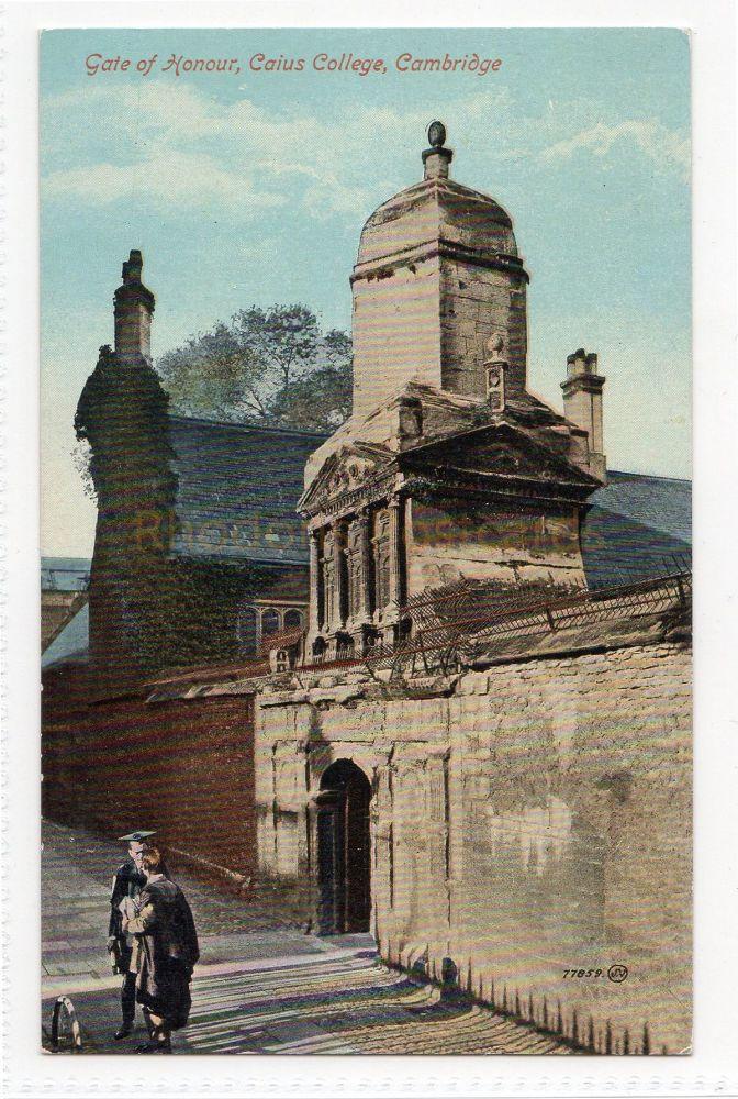 Cambridgeshire. Gate Of Honour, Caius College Cambridge. Valentines Series Postcard