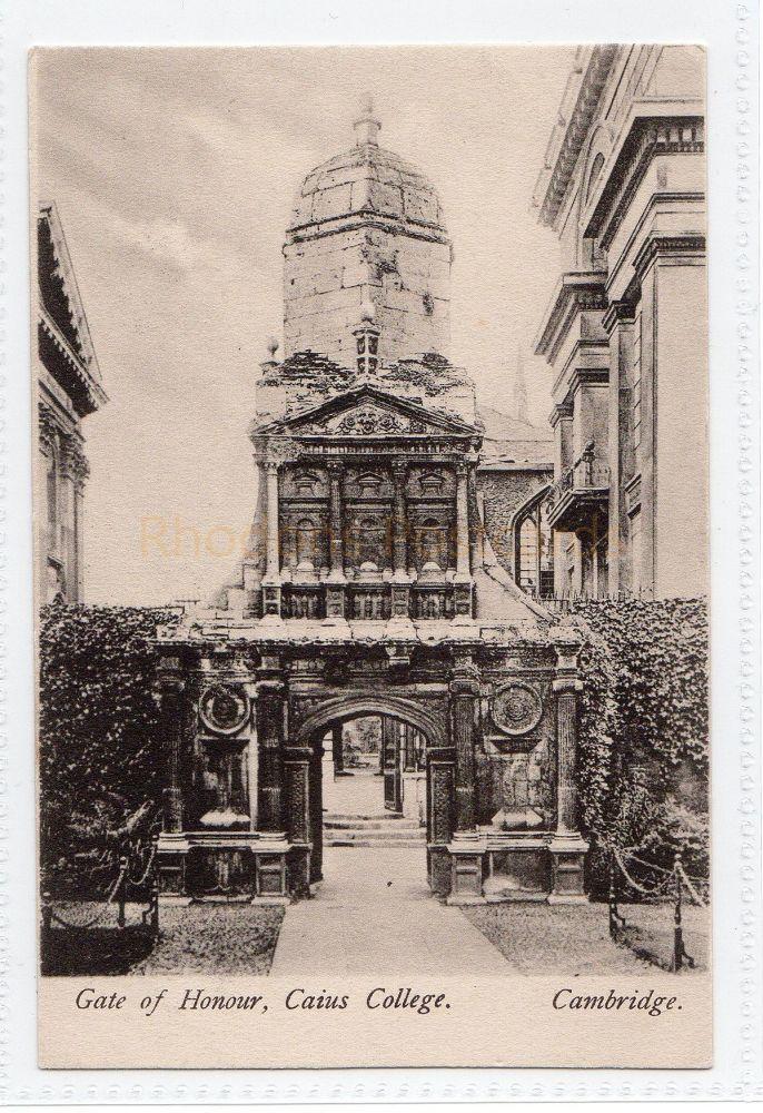 Cambridgeshire. Gate Of Honour, Caius College College Cambridge.Wrench Series Postcard.