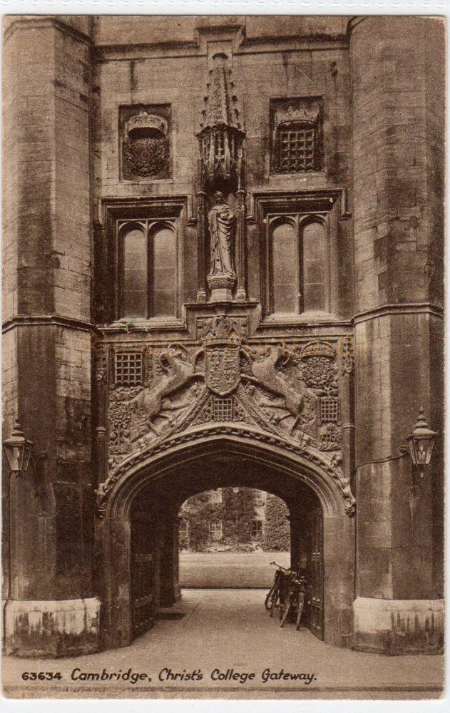 Cambridgeshire: Christs College Gateway, Cambridge. Friths Series Postcard (63634)