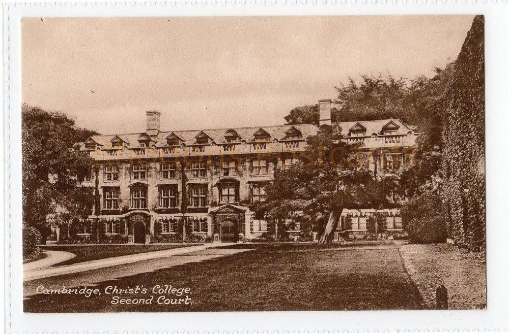 Cambridgeshire. Christs College Second Court, Cambridge. Friths Series Postcard