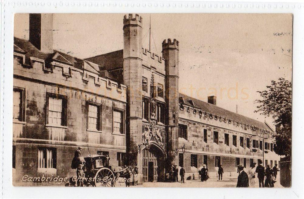 Cambridgeshire. Christs College Cambridge. Friths Postcard