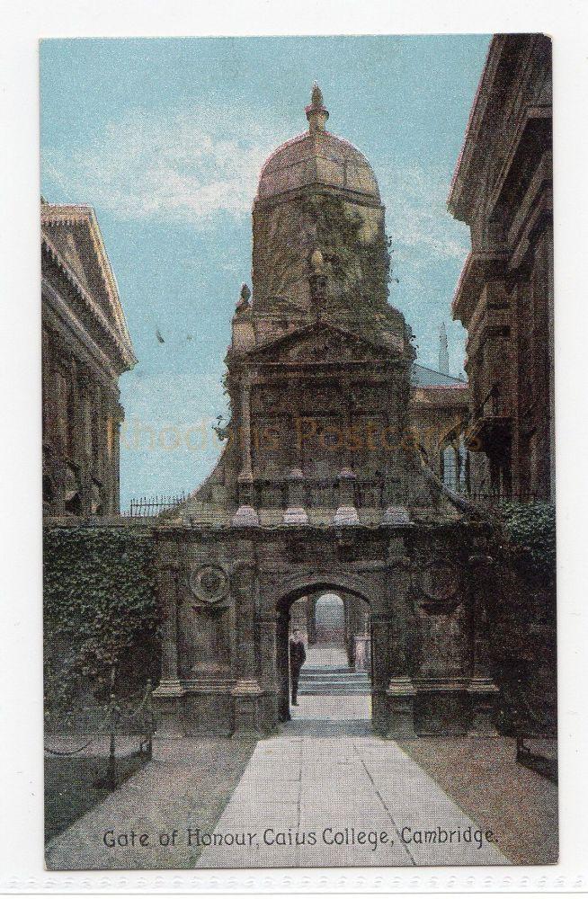 Cambridgeshire. Gate Of Honour, Caius College Cambridge.