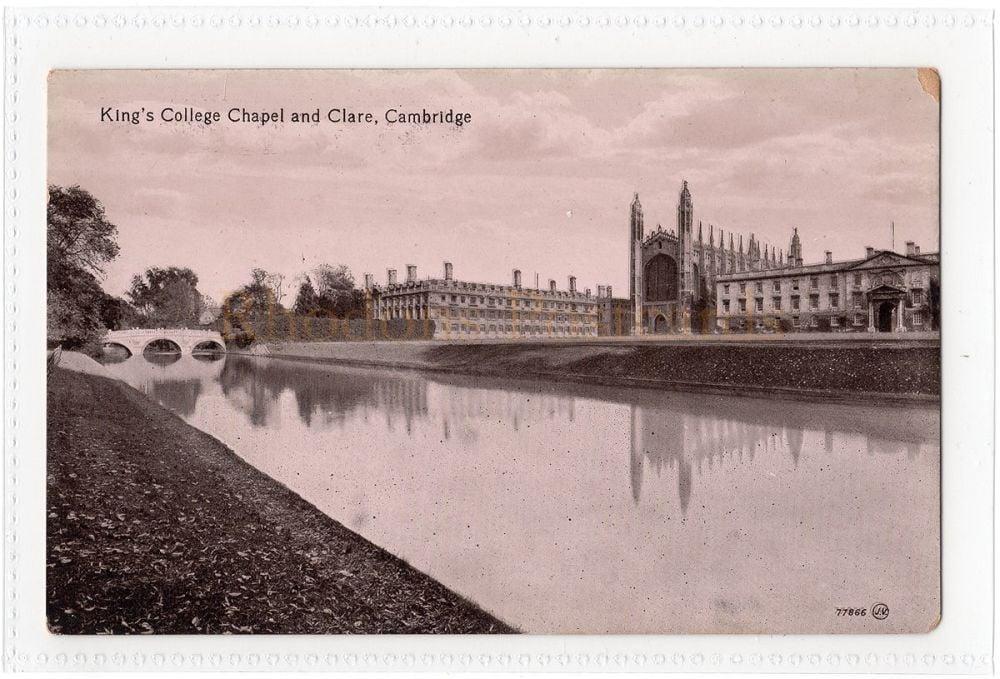 Cambridgeshire: Kings College And Clare, Cambridge. Valentines Series Postcard