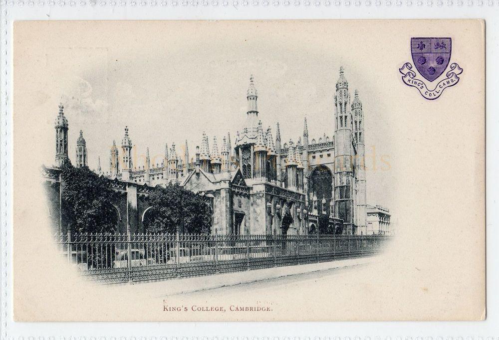 Cambridgeshire: Kings College, Cambridge  Early 1900s Postcard