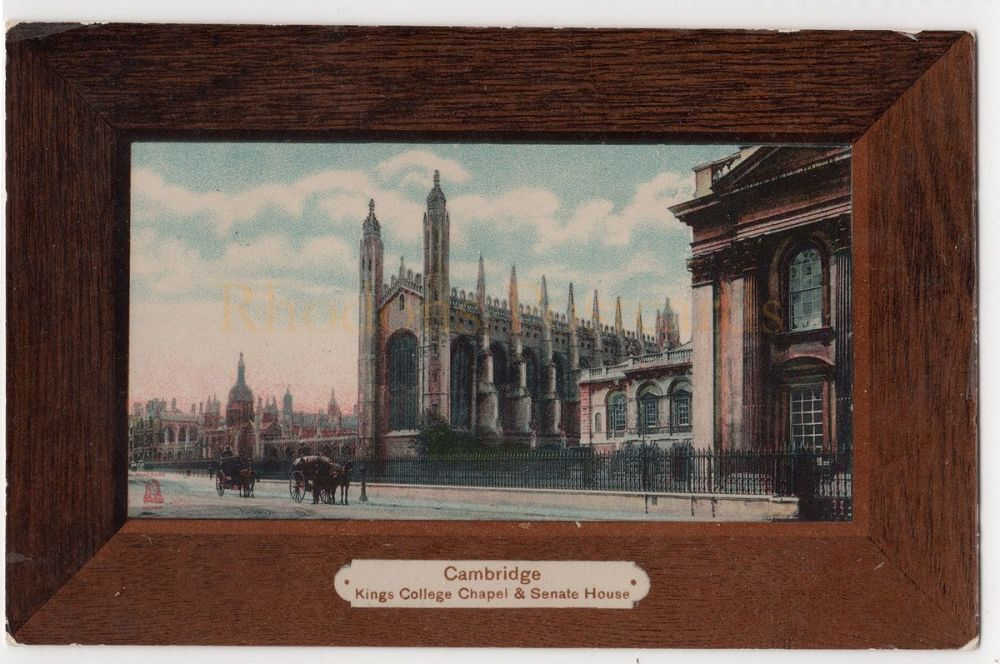 Cambridgeshire: Kings College Chapel & Senate House, Cambridge. (Milton Artlette-Glazette Series)  | Recipient Name: KITCHENER, Hertford UK