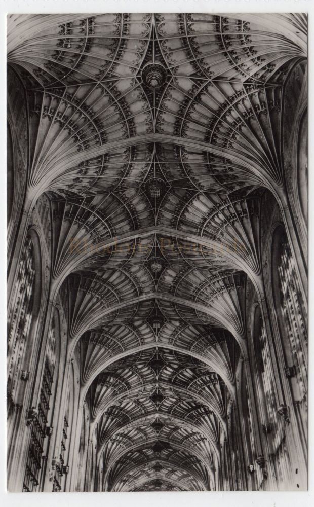 Cambridgeshire: Kings College Chapel Cambridge. Fan Vaulting After Cleaning 1949. Real Photo Postcard