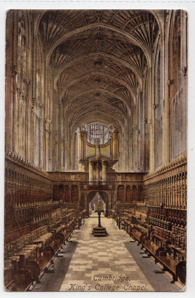 Cambridgeshire:  Kings College Chapel Cambridge. (Friths # 26512)