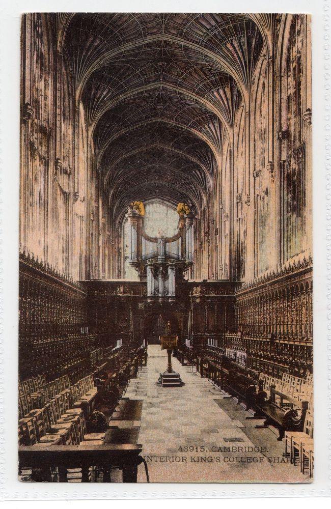 Cambridgeshire:  Kings College Chapel Interior View, Cambridge  Postcard # 43915 (335)