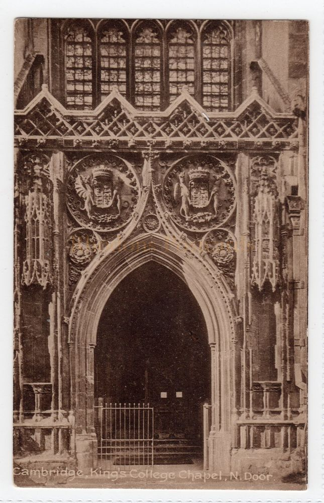 Cambridgeshire:  Kings College Chapel, Cambridge. North Door View Postcard  (Friths Series)