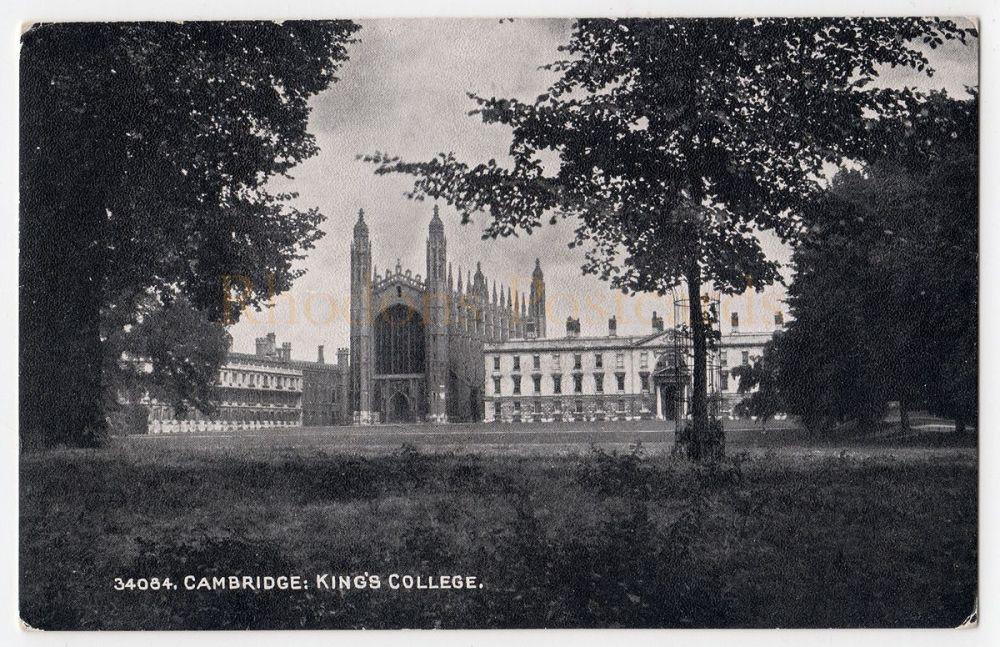 Cambridgeshire: Kings College Cambridge. Photochrom Exclusive Grano Series Postcard