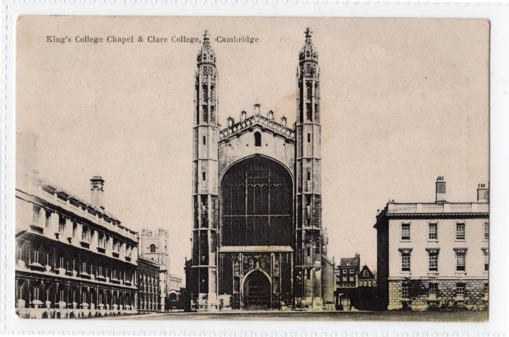Cambridgeshire: Kings College Chapel & Clare College, Cambridge Postcard (Boots) | Recipient Family Name: Coulson