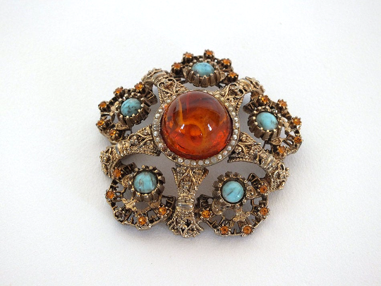 Cabochon Pin Brooch, Large Sized