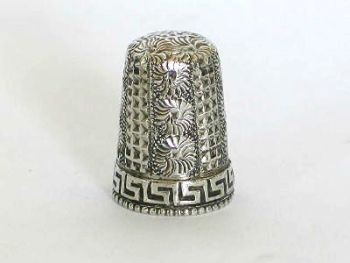 Silver Sewing Thimble, Edwardian Era, Hallmarks For 1905,