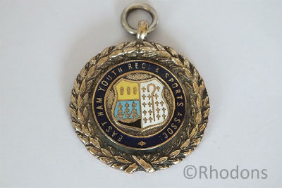1950's Table Tennis League Enamel Fob Medal