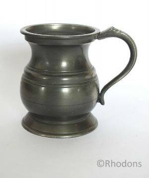 Antique Pewter Spirits Measure, 1 Gill