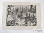 View Of A Settlement In The North West, USA Antique Print