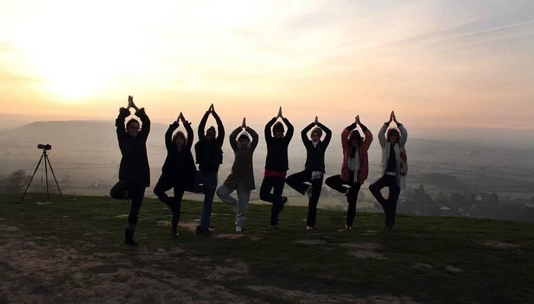 glasto yoga