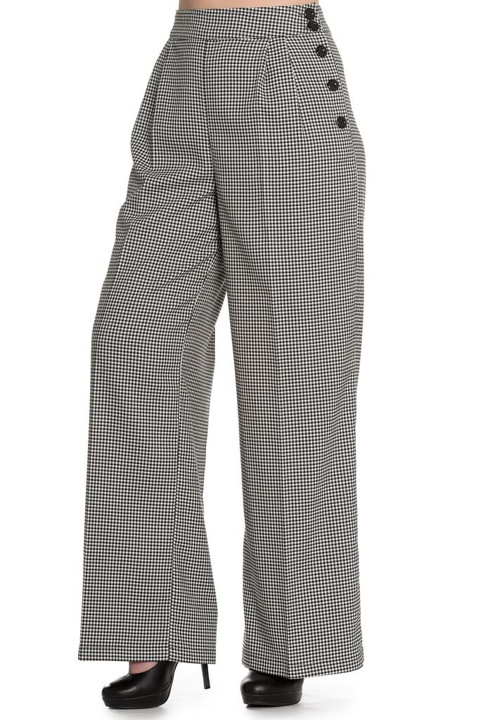 Hell Bunny Jackson Dogtooth 1940's Swing Trousers