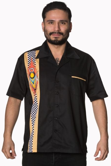 Tongue Tied V8 Bowling Shirt
