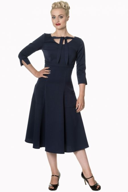 Dancing Days Eclipse Dress in Navy