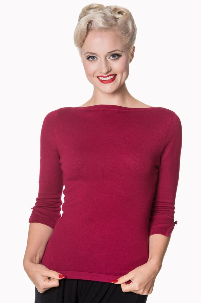 Addicted Sweater in Plum
