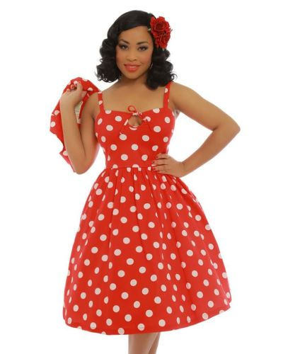 Libby Red Polka Dress & Bolero Set
