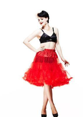 Hell Bunny Long Red Petticoat