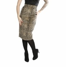 Collectif Leopard Pencil Skirt