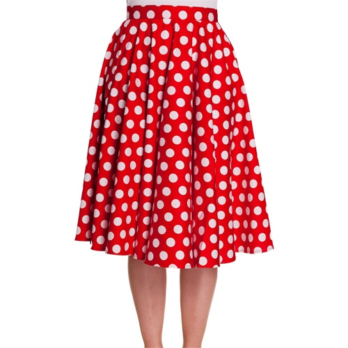 01d1c3f215e3 Hell Bunny Red Polka Dot 50's Swing Skirt