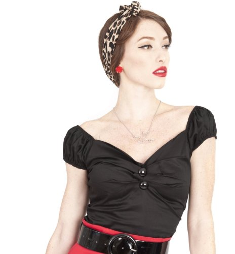 Collectif Dolores Top in Black