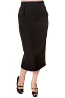 Banned Black Pencil Skirt