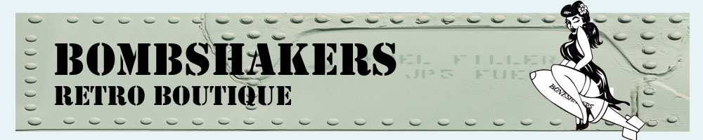 Bombshakers Retro Boutique, site logo.