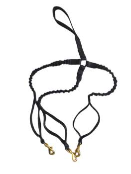 Brass 3 dog Bungee Lead