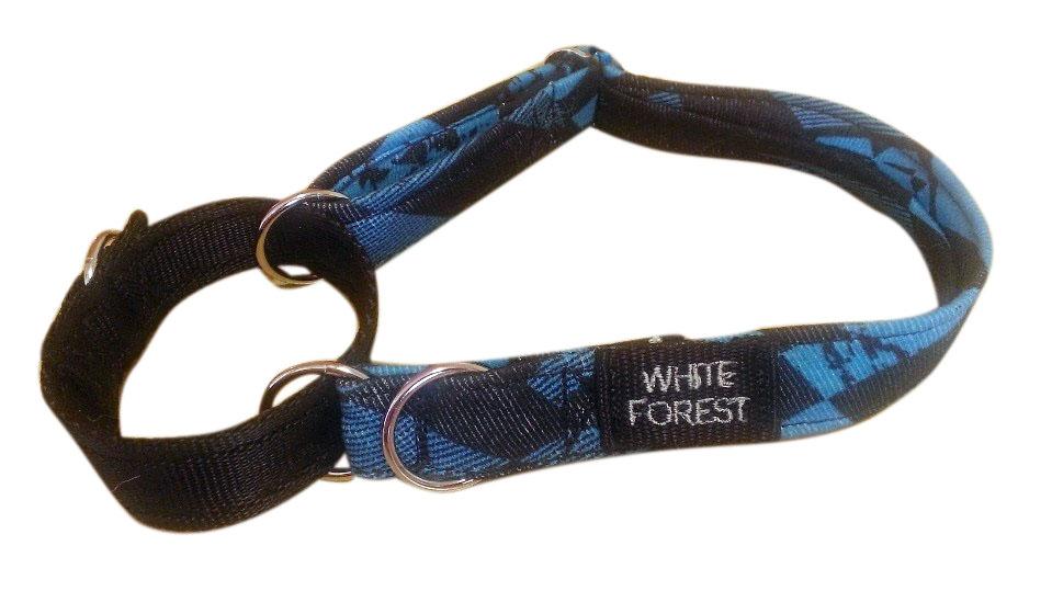 Blue Checkered Fabric Collar