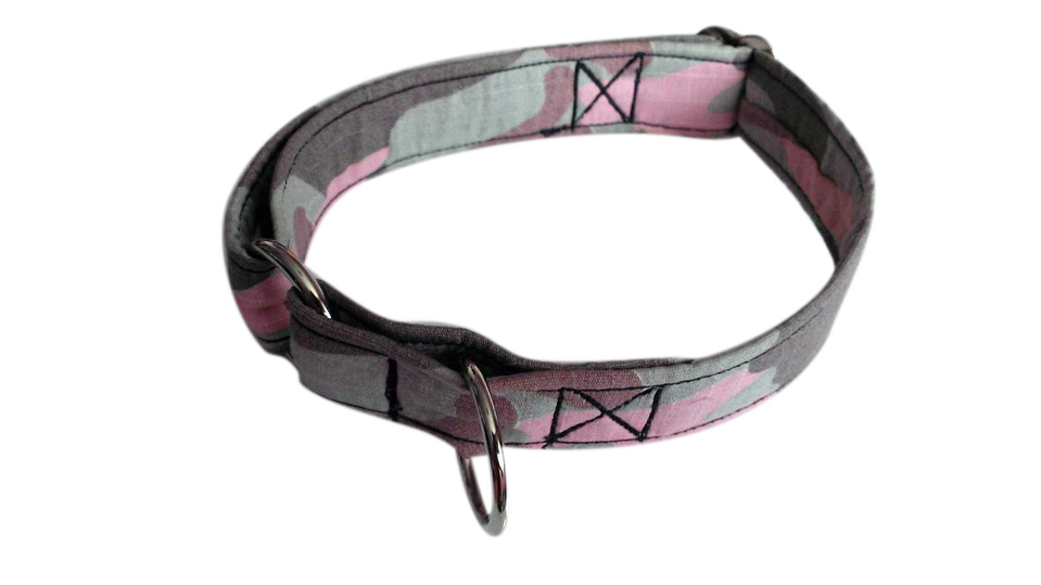 Pink & Grey Camouflage Fabric Collar