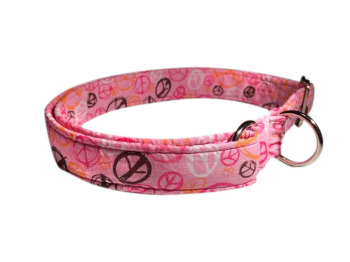 **LIMITED EDITION** Pink Peace Fabric Collar