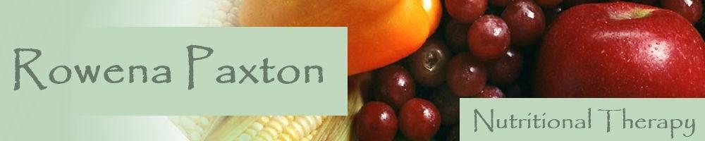 rowenapaxtonnutrition.com, site logo.