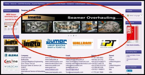 advertising banner home page highlighted