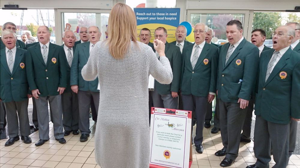 choir at sainsburys fundraiser