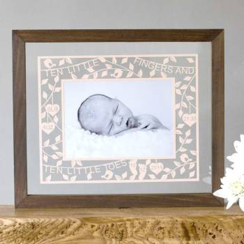 New Baby Photo Papercut
