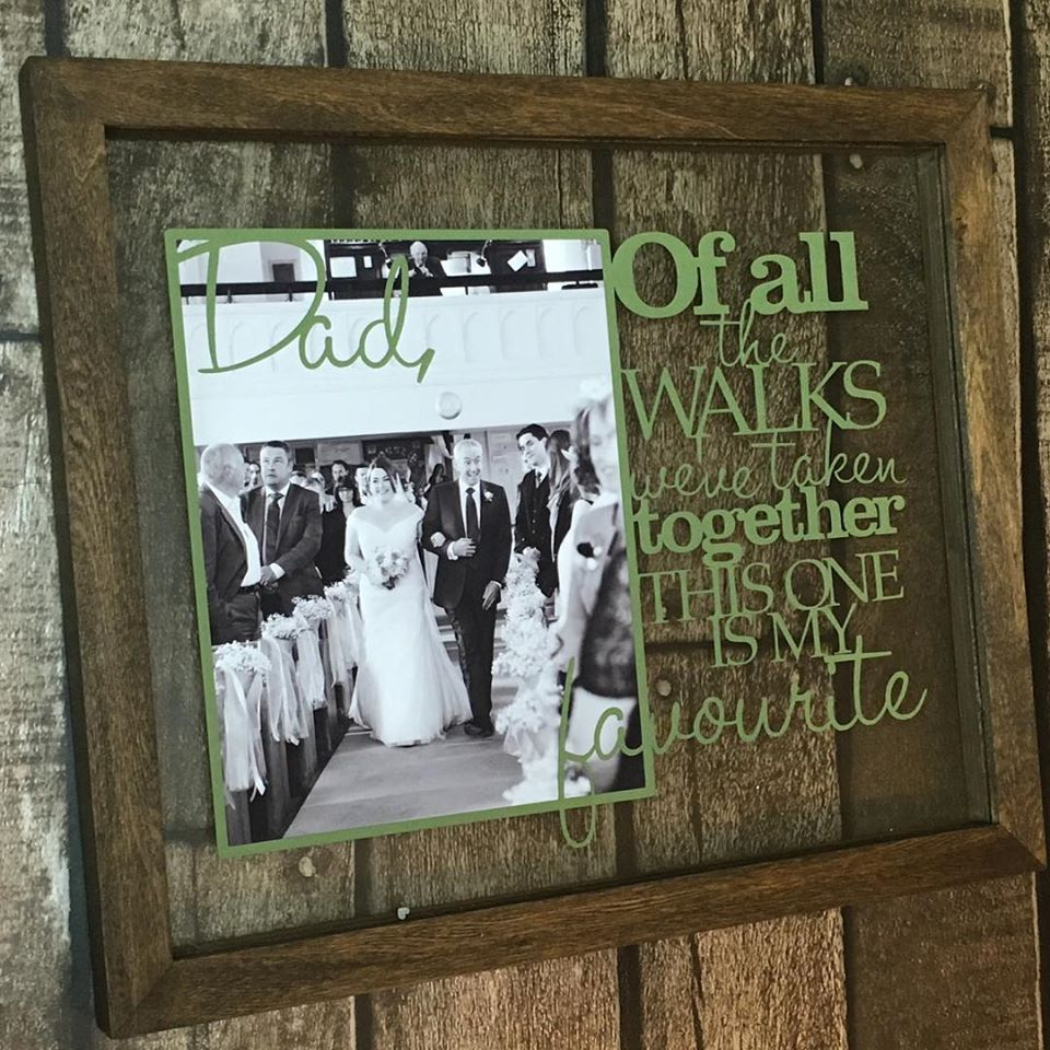 Of All The Walks Papercut (Father/Mother of the Bride)