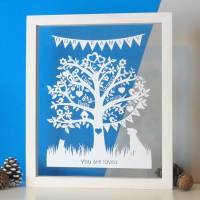 Family Tree Papercut - Deluxe Design