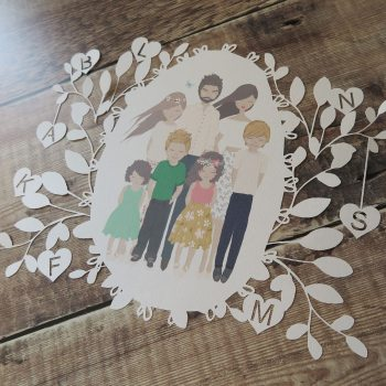 Personalised Family Portrait Papercut