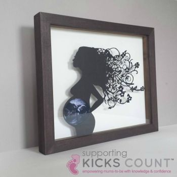 Baby Ultrasound Papercut Frame