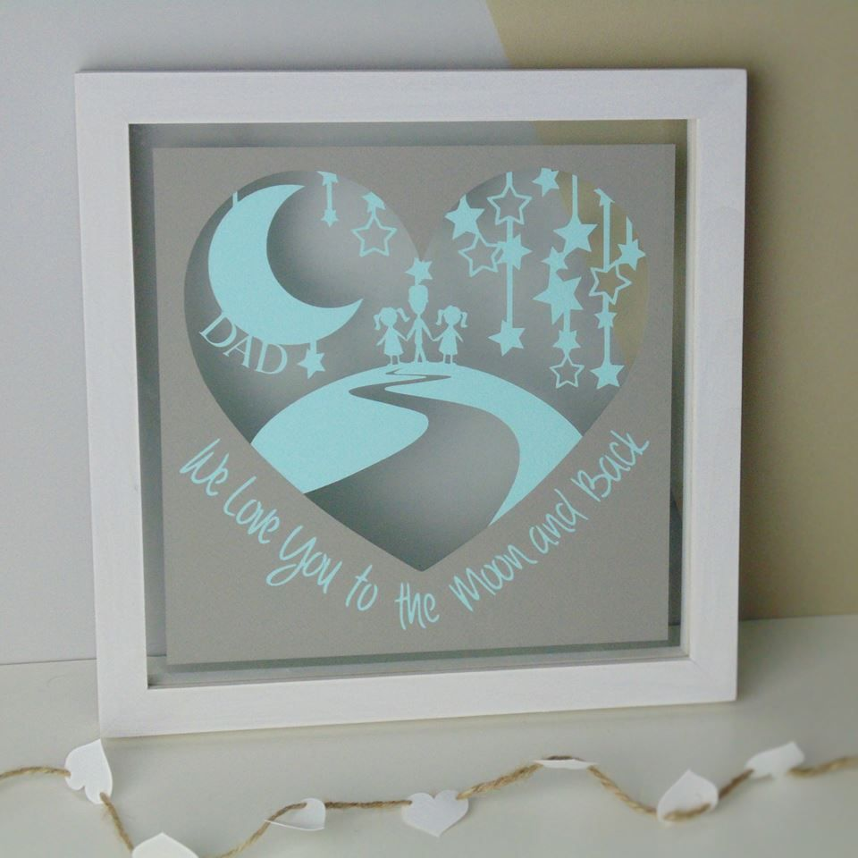 Love You to the Moon and Back Heart Papercut