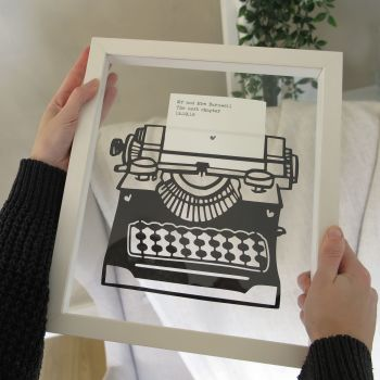 Retro Typewriter Personalised Papercut